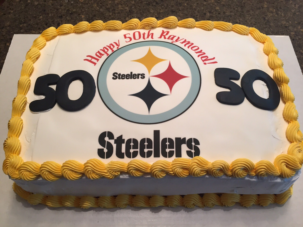 Steelers 50th birthday cake